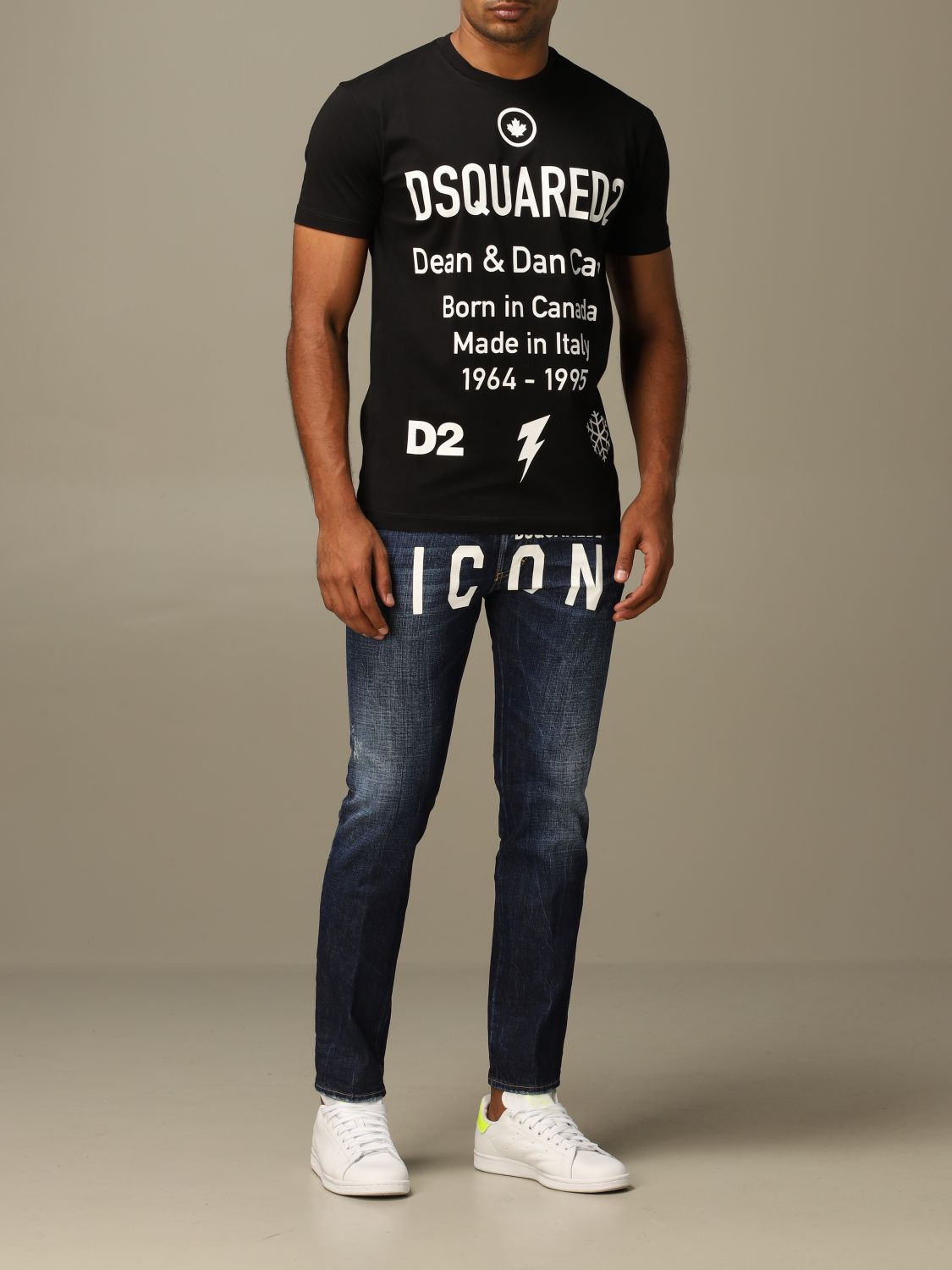 T-shirt Dsquared2: Dsquared2 crew neck t-shirt with logo print black 2