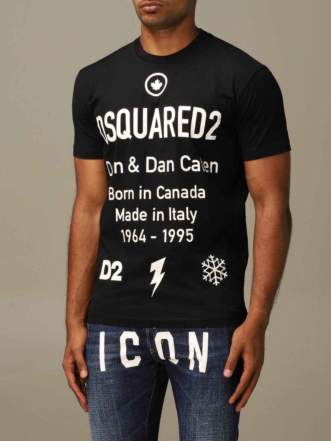 T-shirt Dsquared2: Dsquared2 crew neck t-shirt with logo print black 4