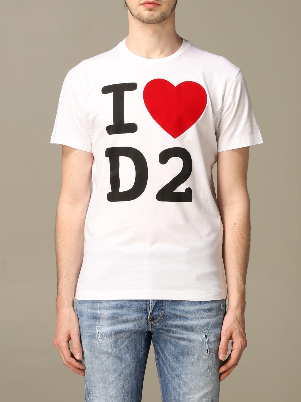 T-Shirt Dsquared2: T-shirt herren Dsquared2 weiß 1