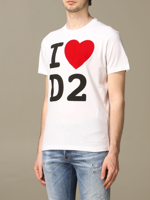 T-Shirt Dsquared2: T-shirt herren Dsquared2 weiß 4