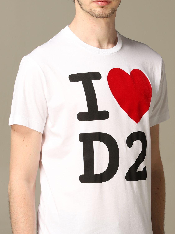 T-Shirt Dsquared2: T-shirt herren Dsquared2 weiß 5