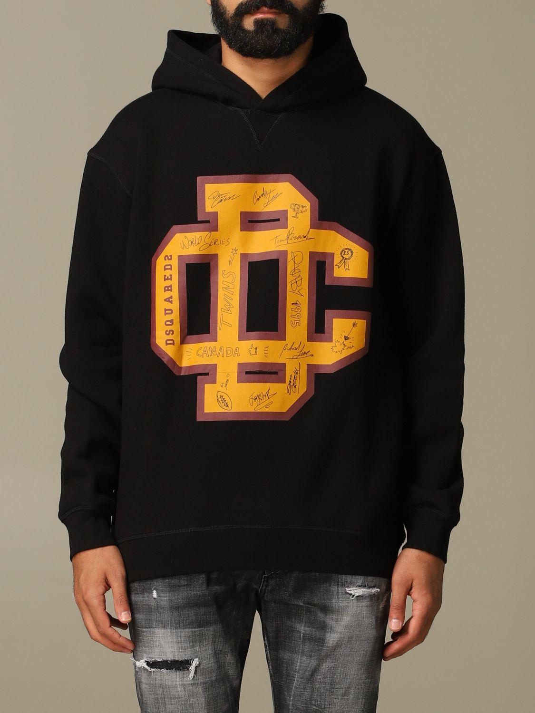 Sweatshirt Dsquared2: Dsquared2 cotton sweatshirt with big logo black 1
