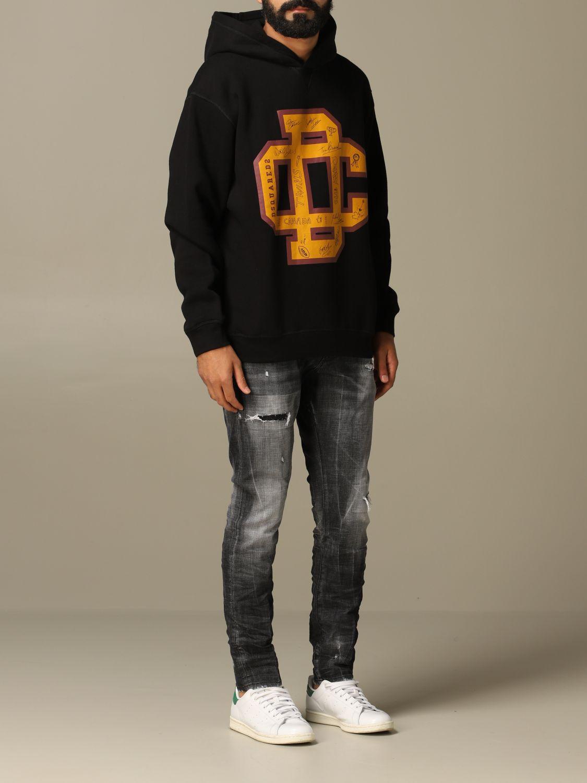 Sweatshirt Dsquared2: Dsquared2 cotton sweatshirt with big logo black 2