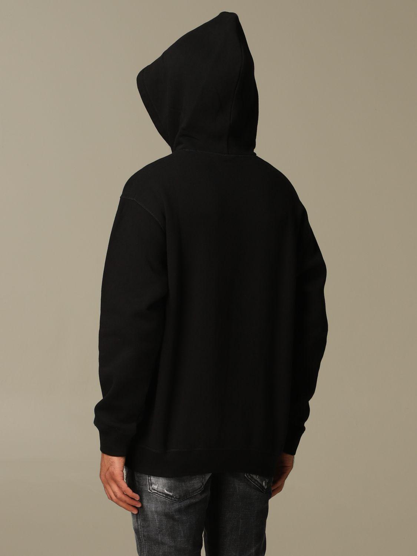 Sweatshirt Dsquared2: Dsquared2 cotton sweatshirt with big logo black 3