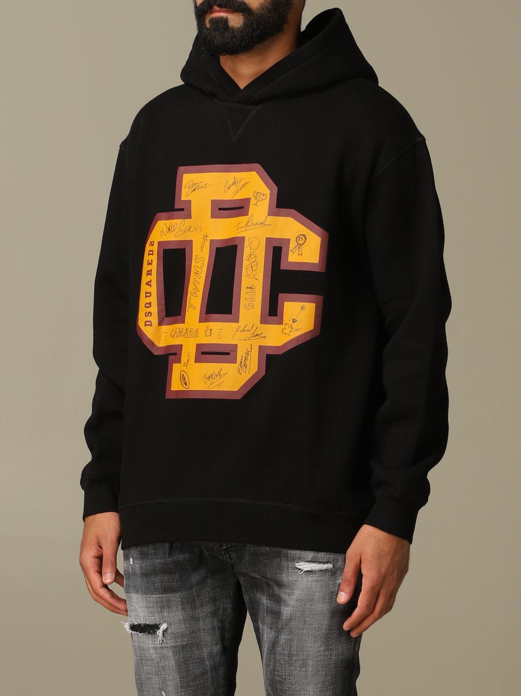 Sweatshirt Dsquared2: Dsquared2 cotton sweatshirt with big logo black 4