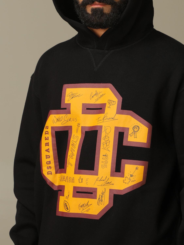 Sweatshirt Dsquared2: Dsquared2 cotton sweatshirt with big logo black 5