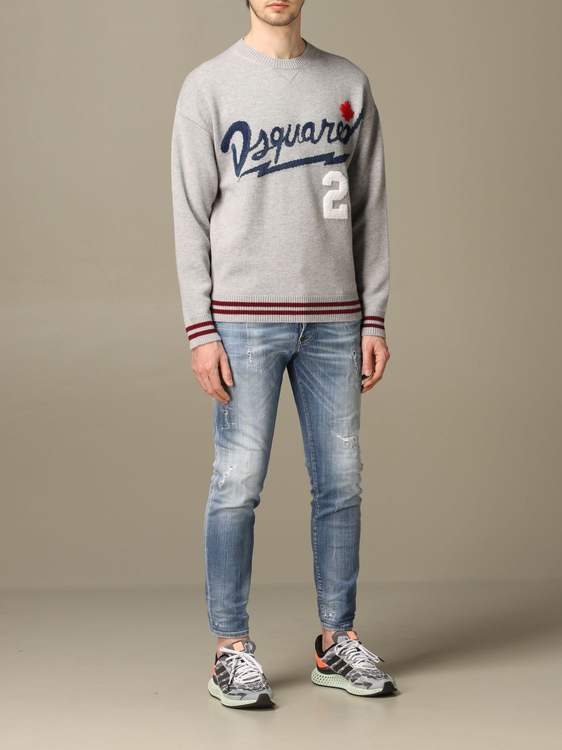Sweater Dsquared2: Dsquared2 pullover with jacquard logo grey 2