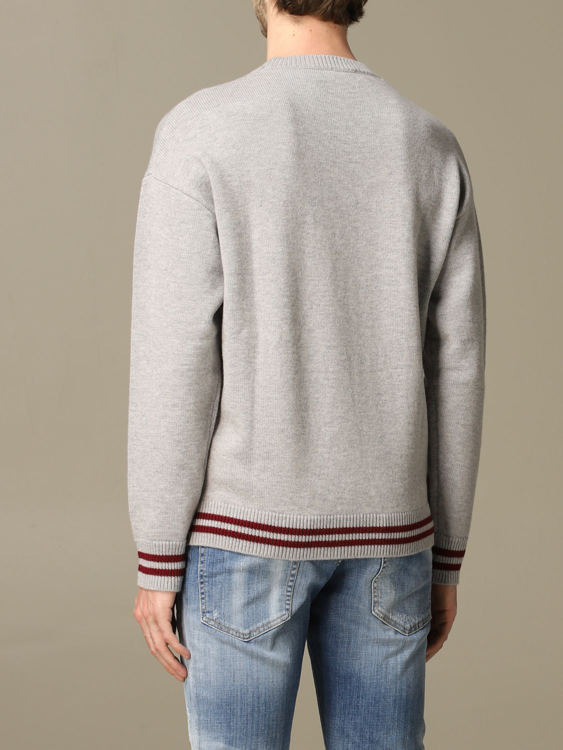 Sweater Dsquared2: Dsquared2 pullover with jacquard logo grey 3