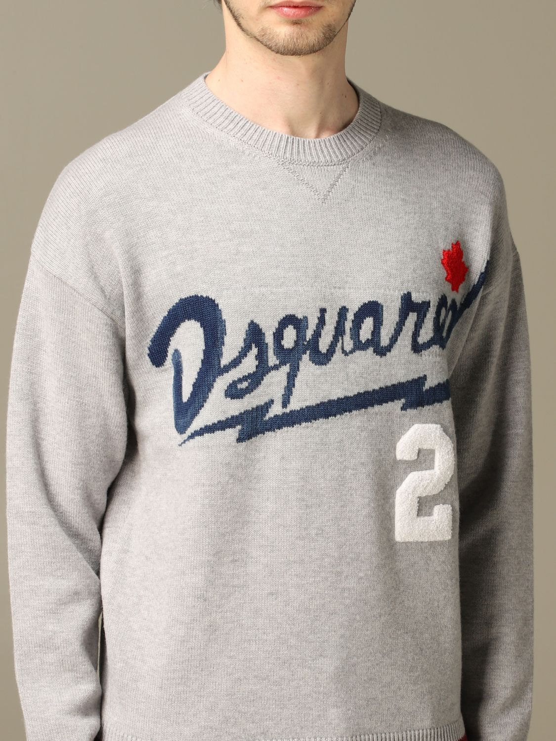 Sweater Dsquared2: Dsquared2 pullover with jacquard logo grey 5