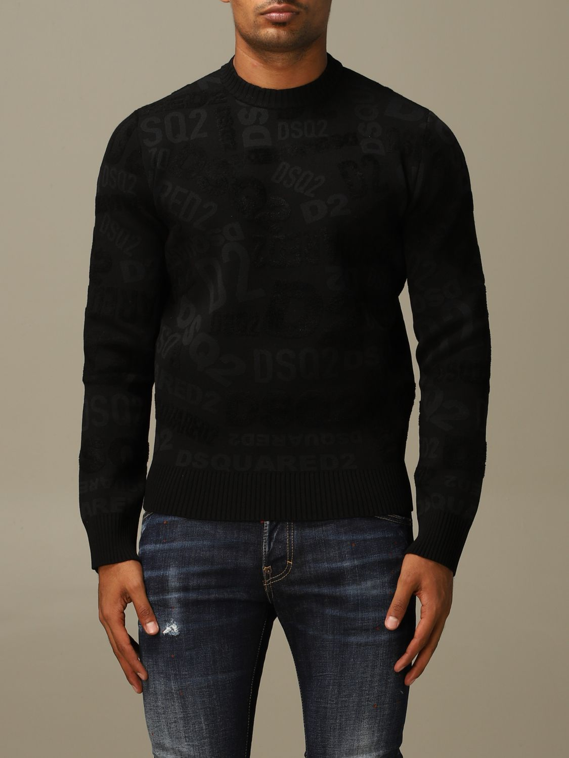 Pull Dsquared2: Pull homme Dsquared2 noir 1