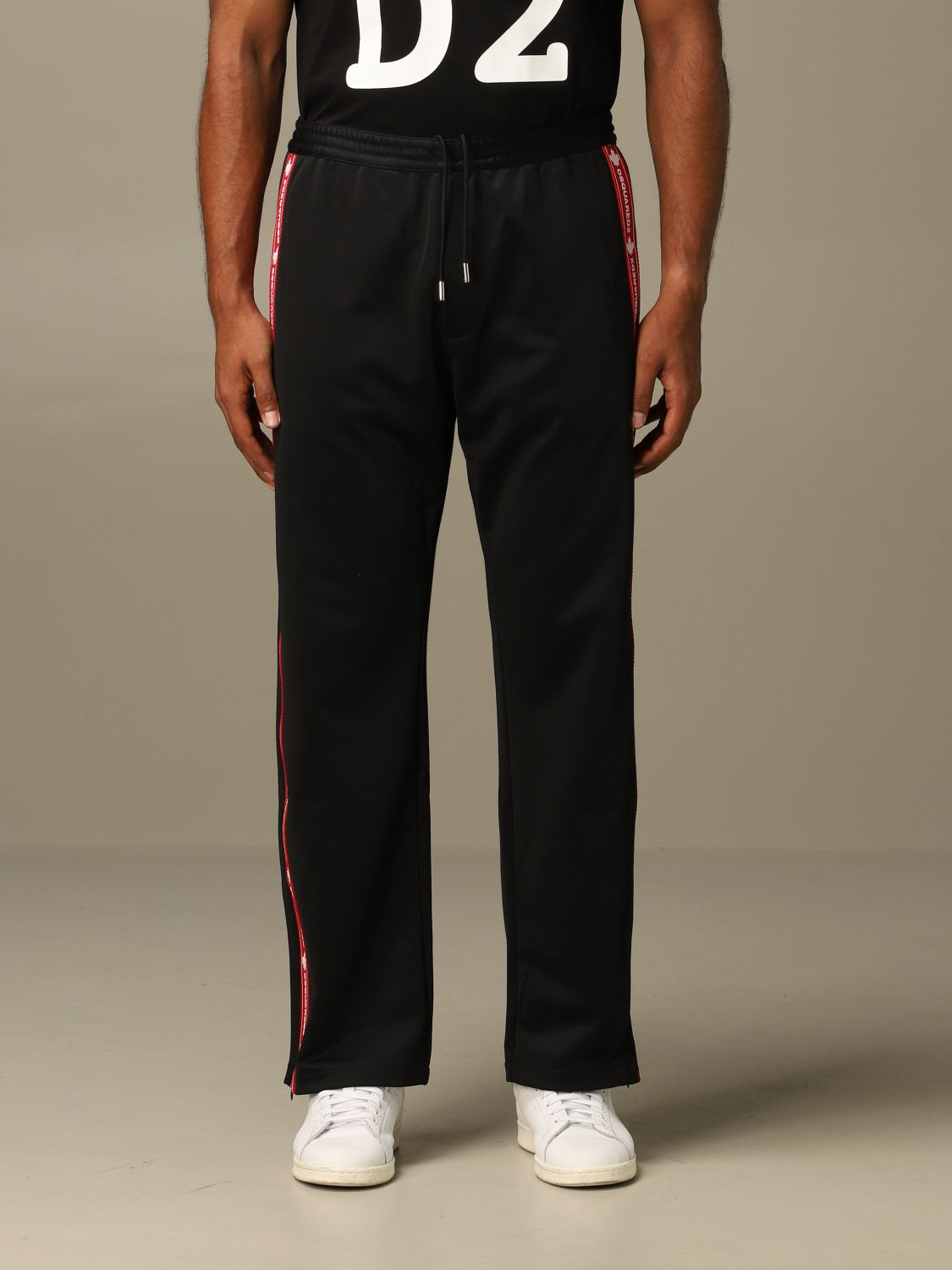 Pants Dsquared2: Dsquared2 jogging trousers with logoed bands black 1