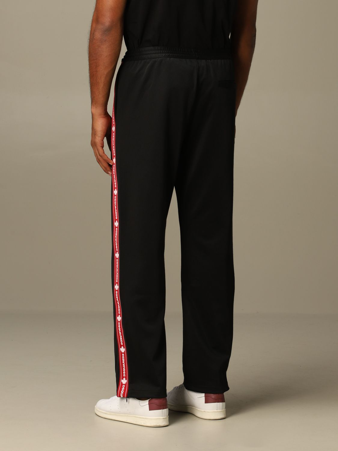 Pants Dsquared2: Dsquared2 jogging trousers with logoed bands black 2