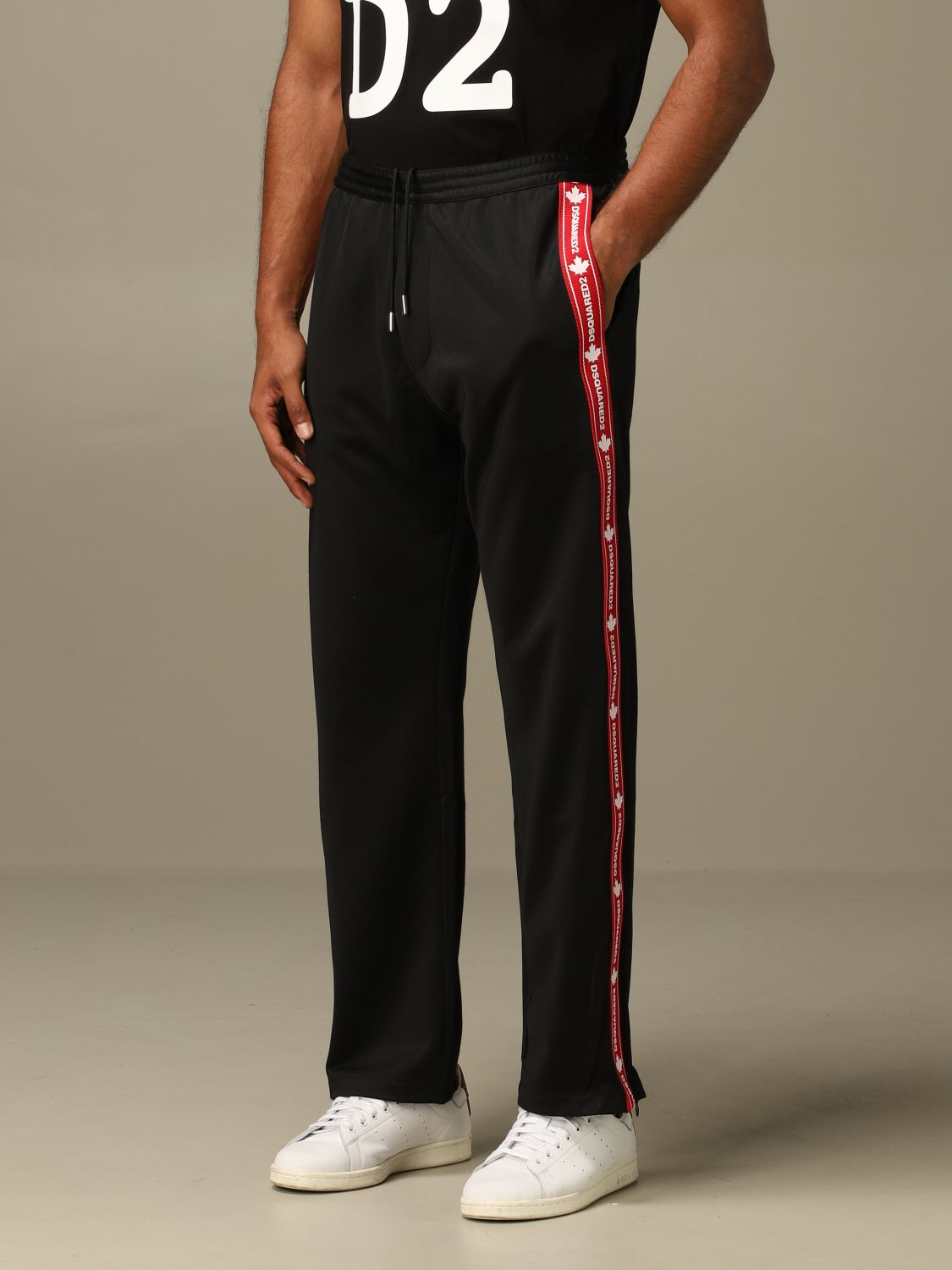 Pants Dsquared2: Dsquared2 jogging trousers with logoed bands black 3