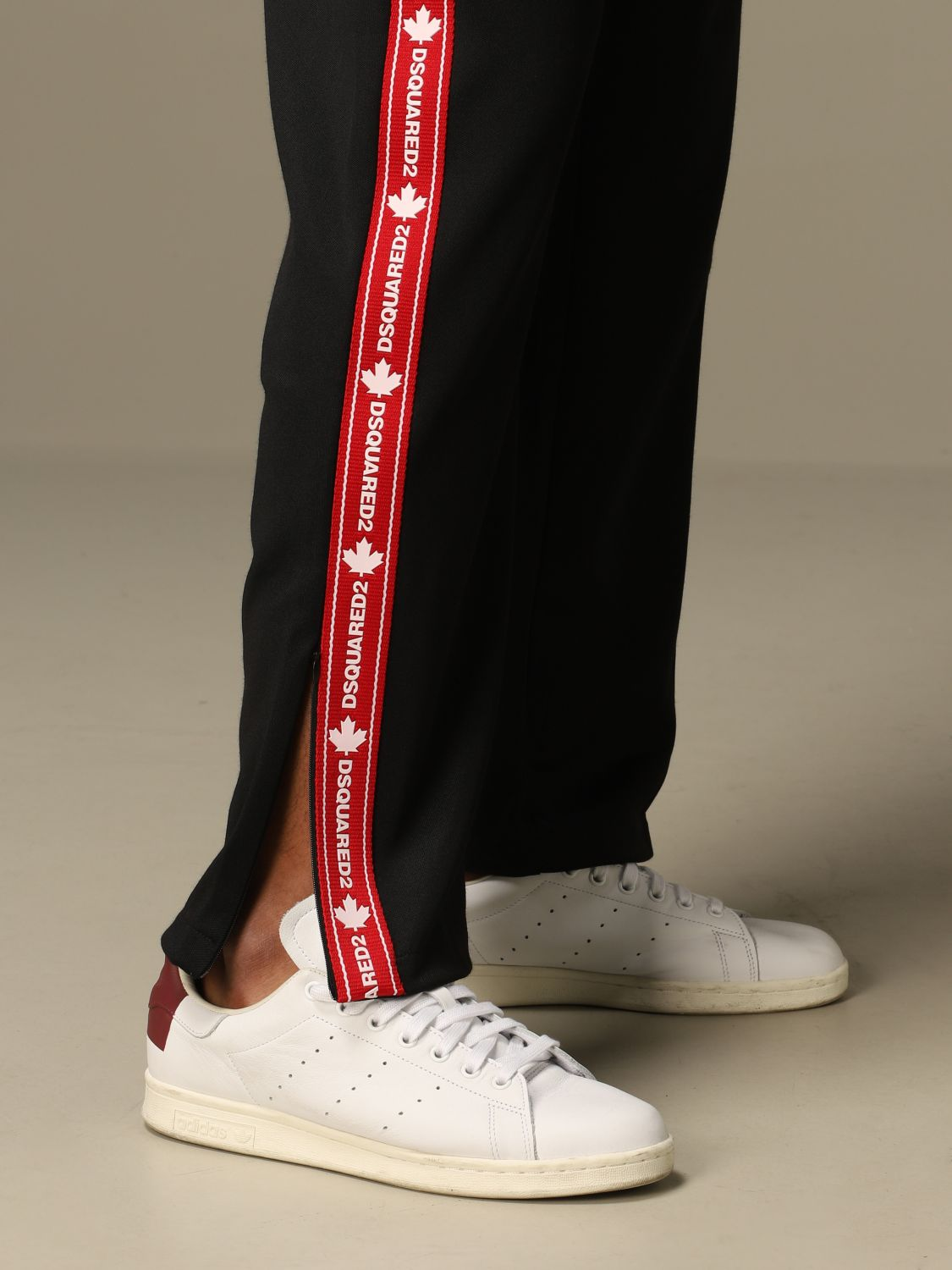 Pants Dsquared2: Dsquared2 jogging trousers with logoed bands black 4