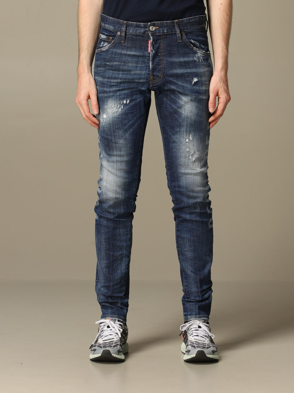 Jeans Dsquared2: Cool guy Dsquared2 regular fit jeans with Canadian logo blue 1