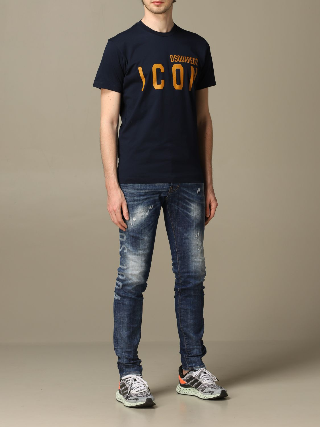 Jeans Dsquared2: Cool guy Dsquared2 regular fit jeans with Canadian logo blue 2
