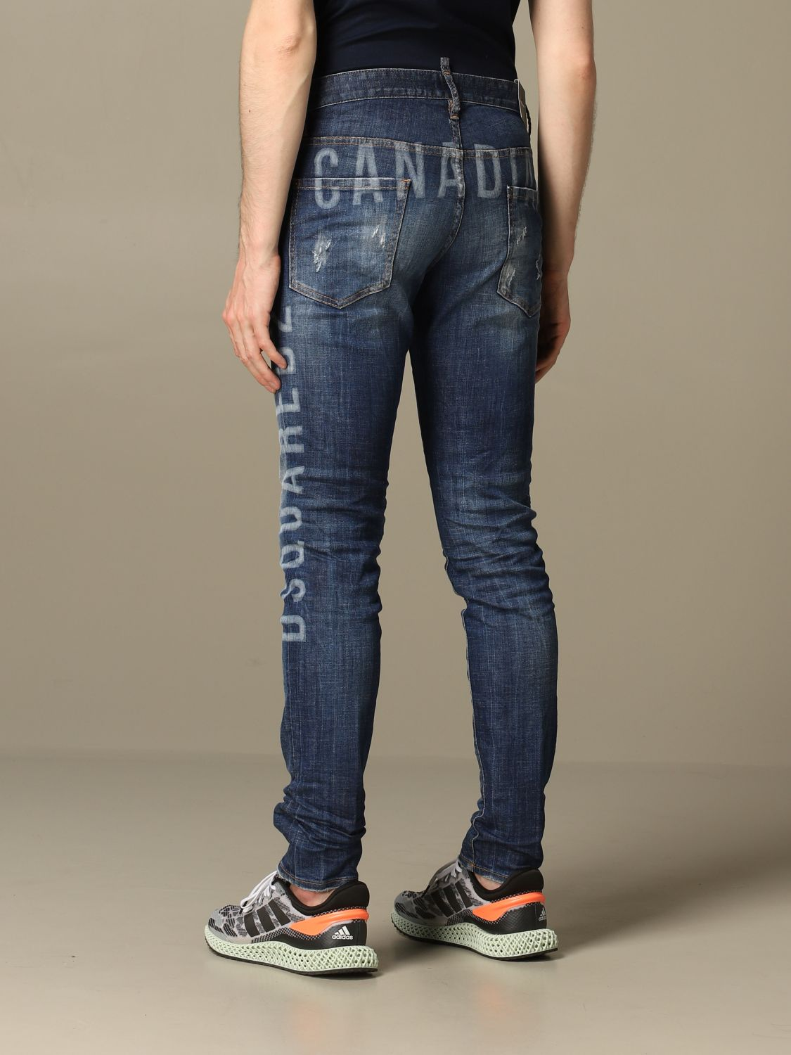 Jeans Dsquared2: Cool guy Dsquared2 regular fit jeans with Canadian logo blue 3