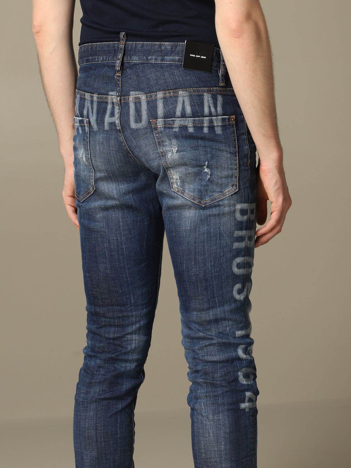 Jeans Dsquared2: Cool guy Dsquared2 regular fit jeans with Canadian logo blue 5