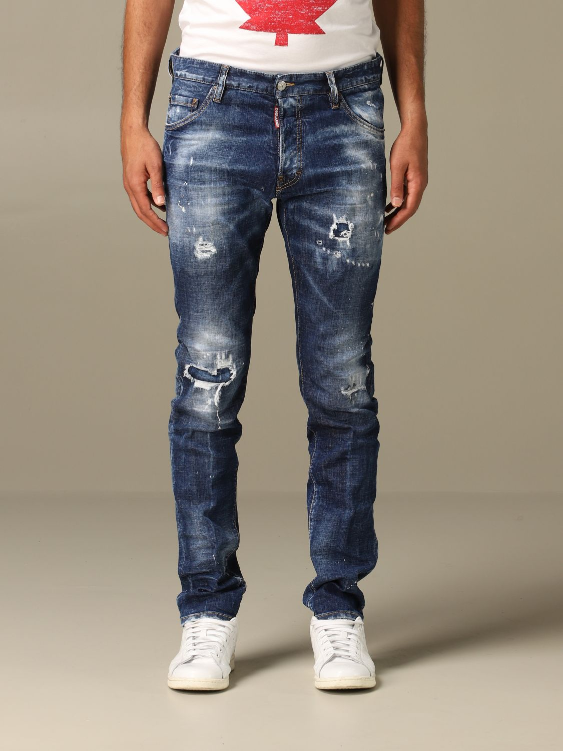 Jeans Dsquared2: Cool guy Dsquared2 regular fit jeans with breaks blue 1