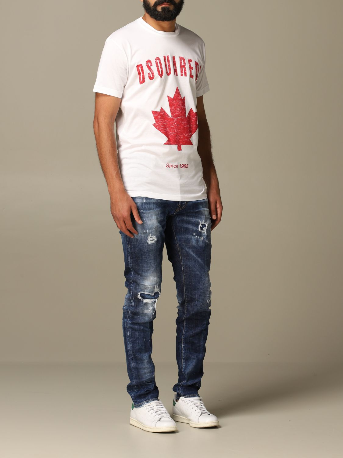 Jeans Dsquared2: Cool guy Dsquared2 regular fit jeans with breaks blue 2