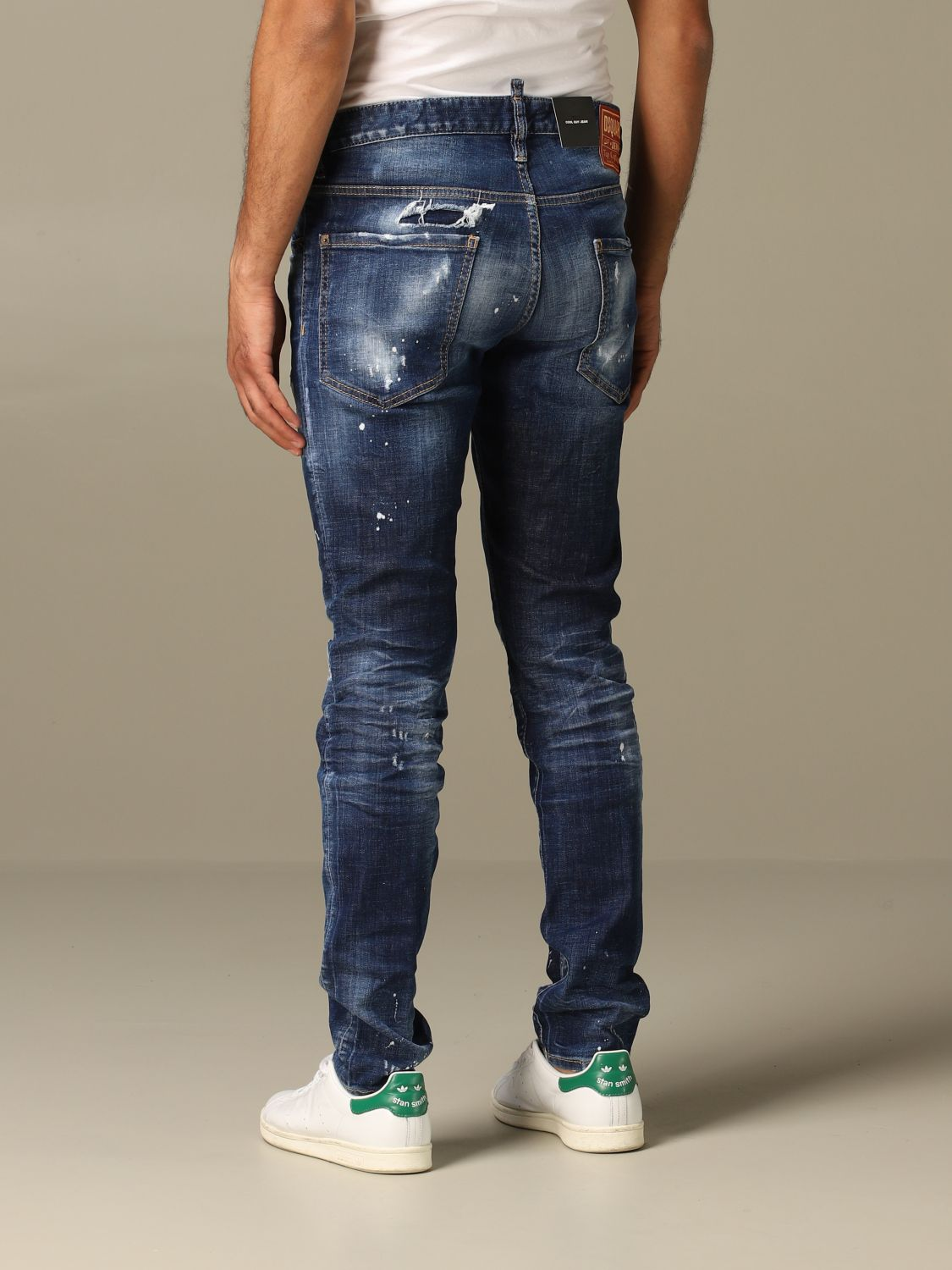 Jeans Dsquared2: Cool guy Dsquared2 regular fit jeans with breaks blue 3