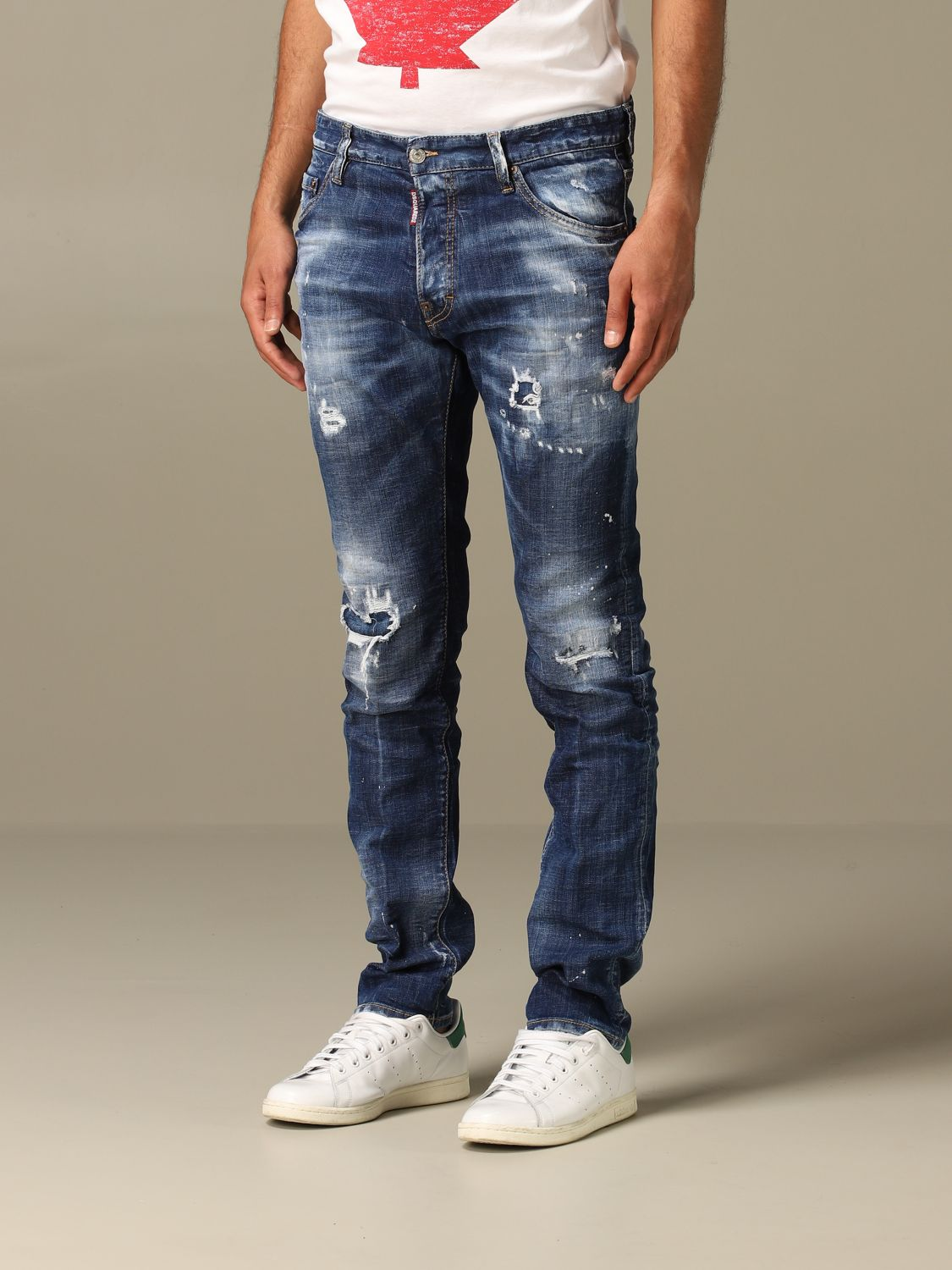 Jeans Dsquared2: Cool guy Dsquared2 regular fit jeans with breaks blue 4