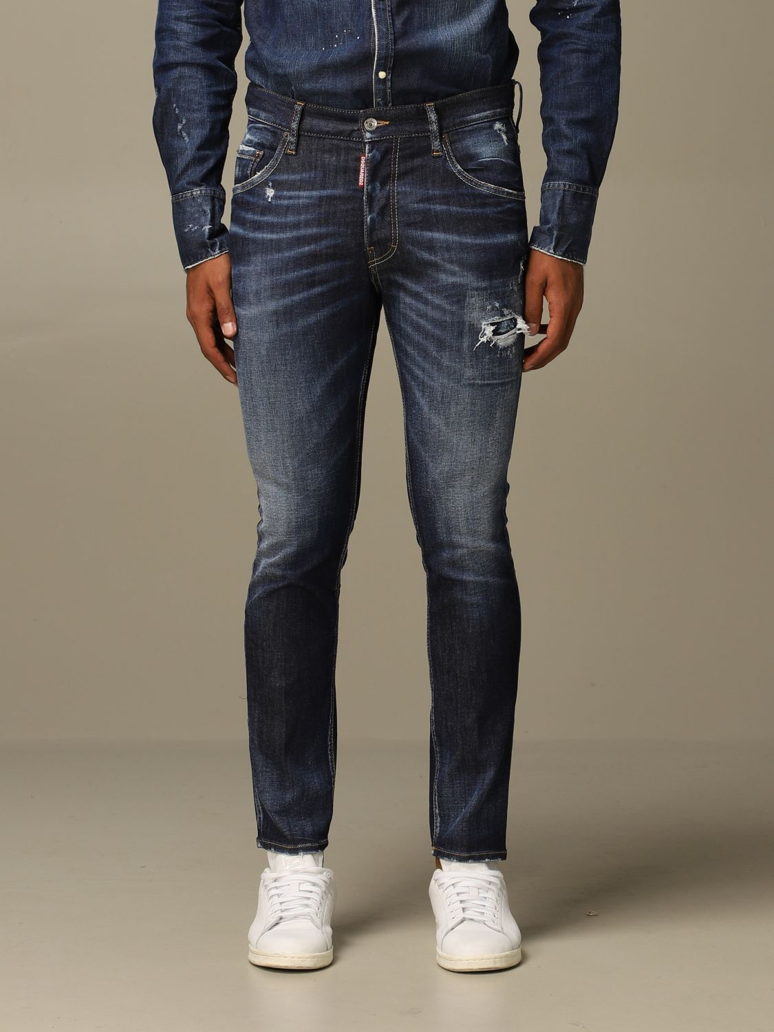 Jeans Dsquared2: Dsquared2 slim fit Skater jeans with breaks denim 1