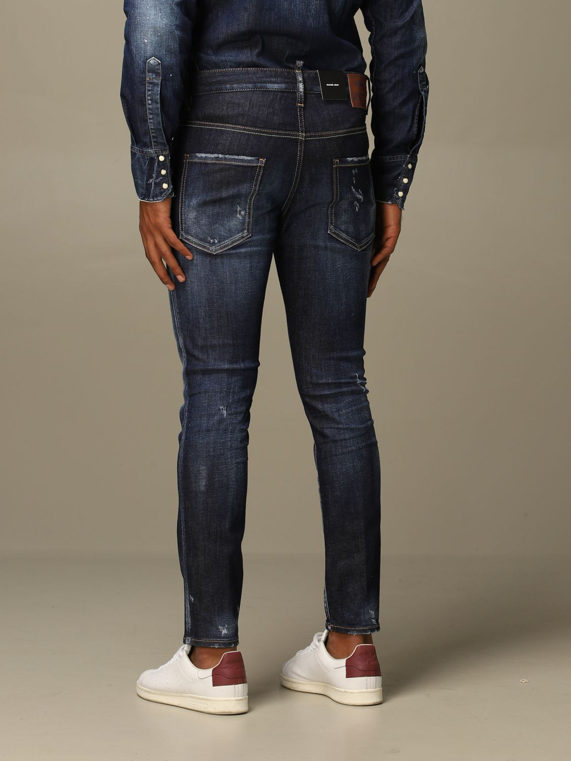 Jeans Dsquared2: Dsquared2 slim fit Skater jeans with breaks denim 2