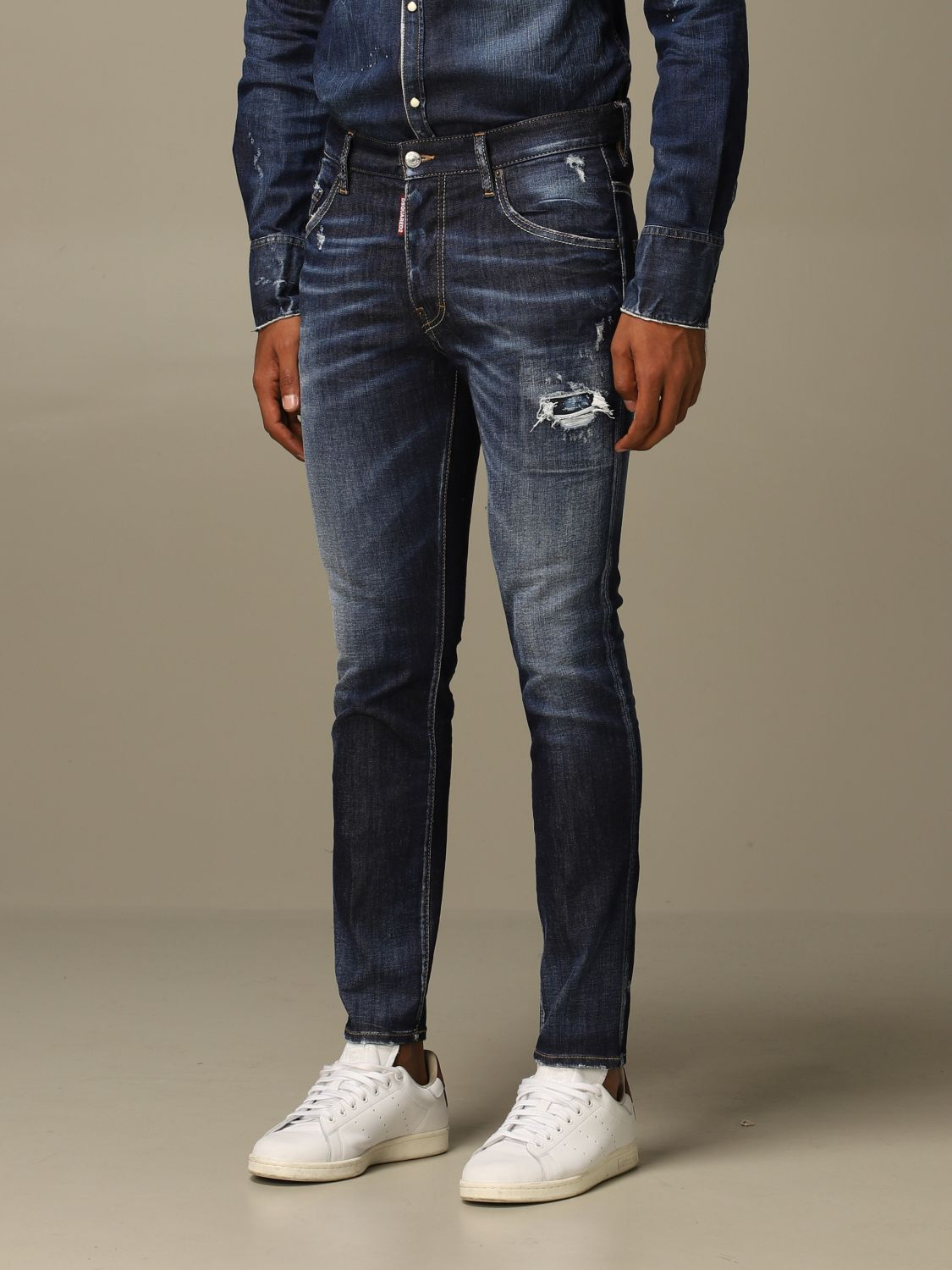 Jeans Dsquared2: Dsquared2 slim fit Skater jeans with breaks denim 3