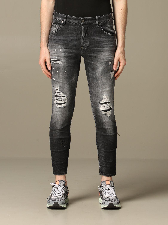 Jeans Dsquared2: Dsquared2 slim fit Skater jeans with breaks black 1