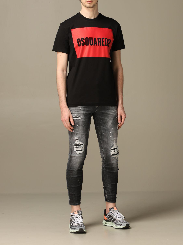 Jeans Dsquared2: Dsquared2 slim fit Skater jeans with breaks black 2