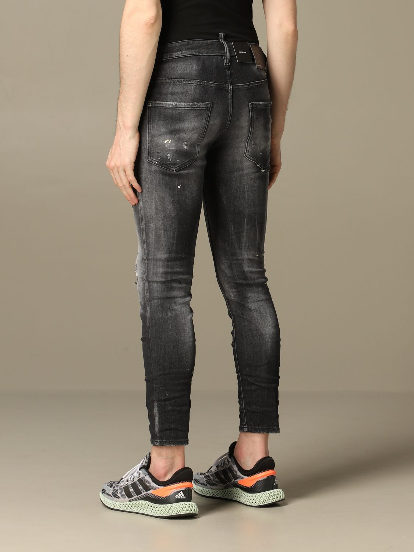 Jeans Dsquared2: Dsquared2 slim fit Skater jeans with breaks black 3