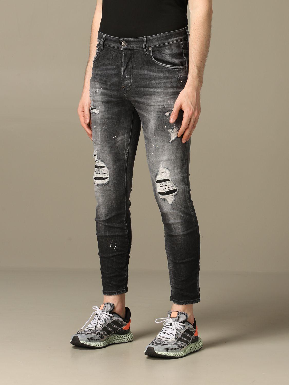 Jeans Dsquared2: Dsquared2 slim fit Skater jeans with breaks black 4