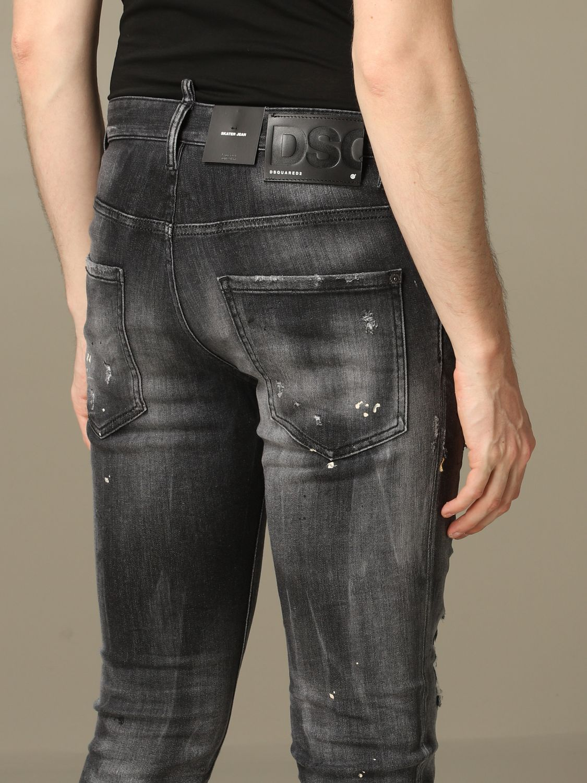 Jeans Dsquared2: Dsquared2 slim fit Skater jeans with breaks black 5