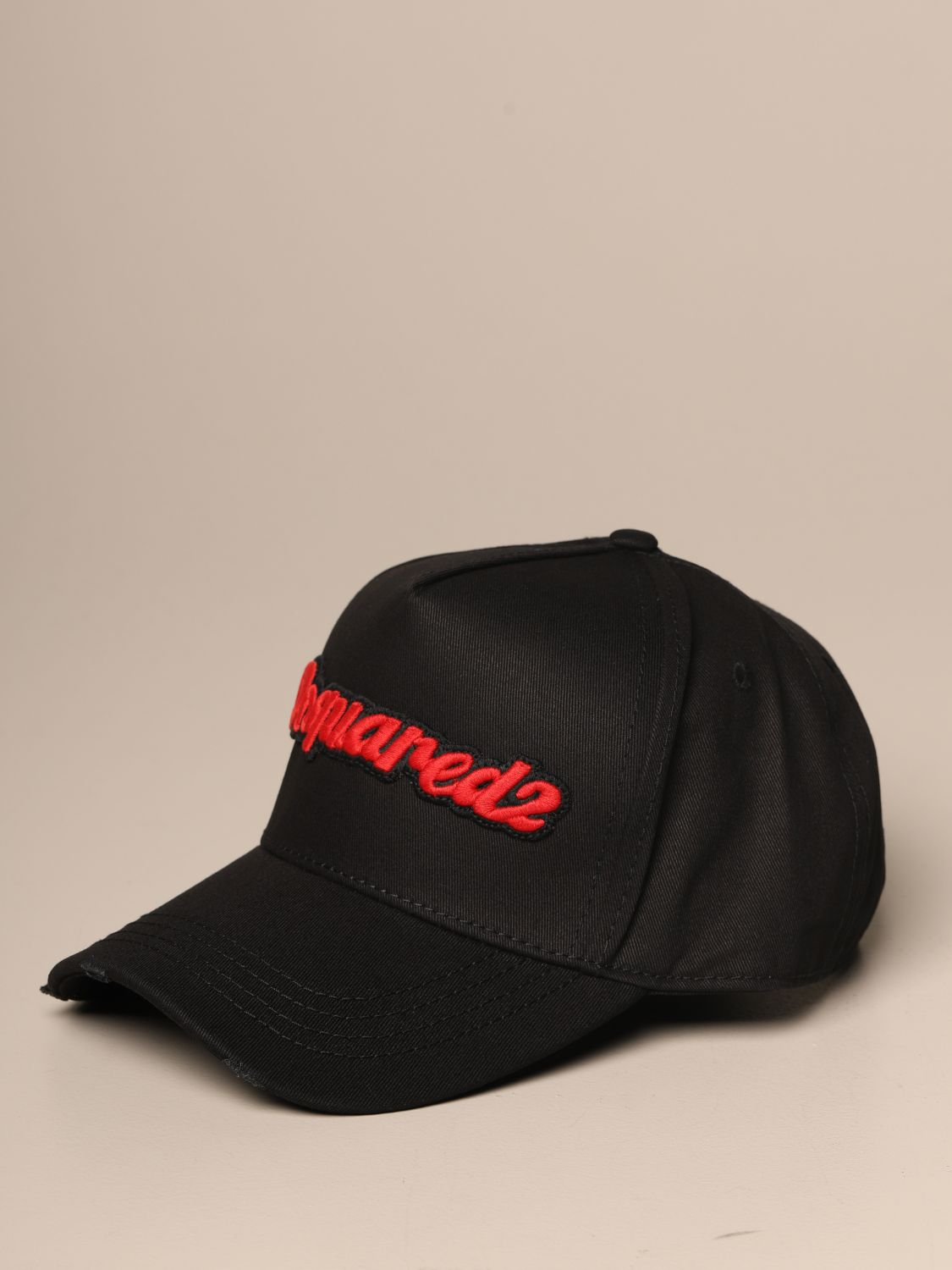 Hat Dsquared2: Dsquared2 baseball hat with lettering logo black 1
