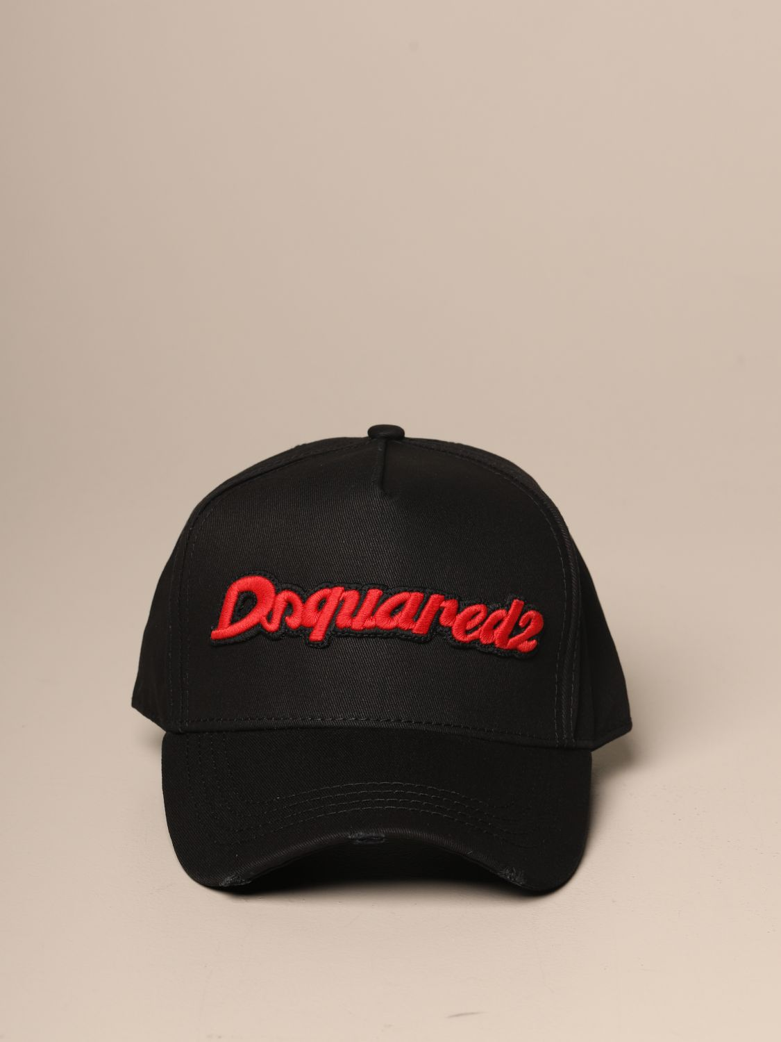 Hat Dsquared2: Dsquared2 baseball hat with lettering logo black 2