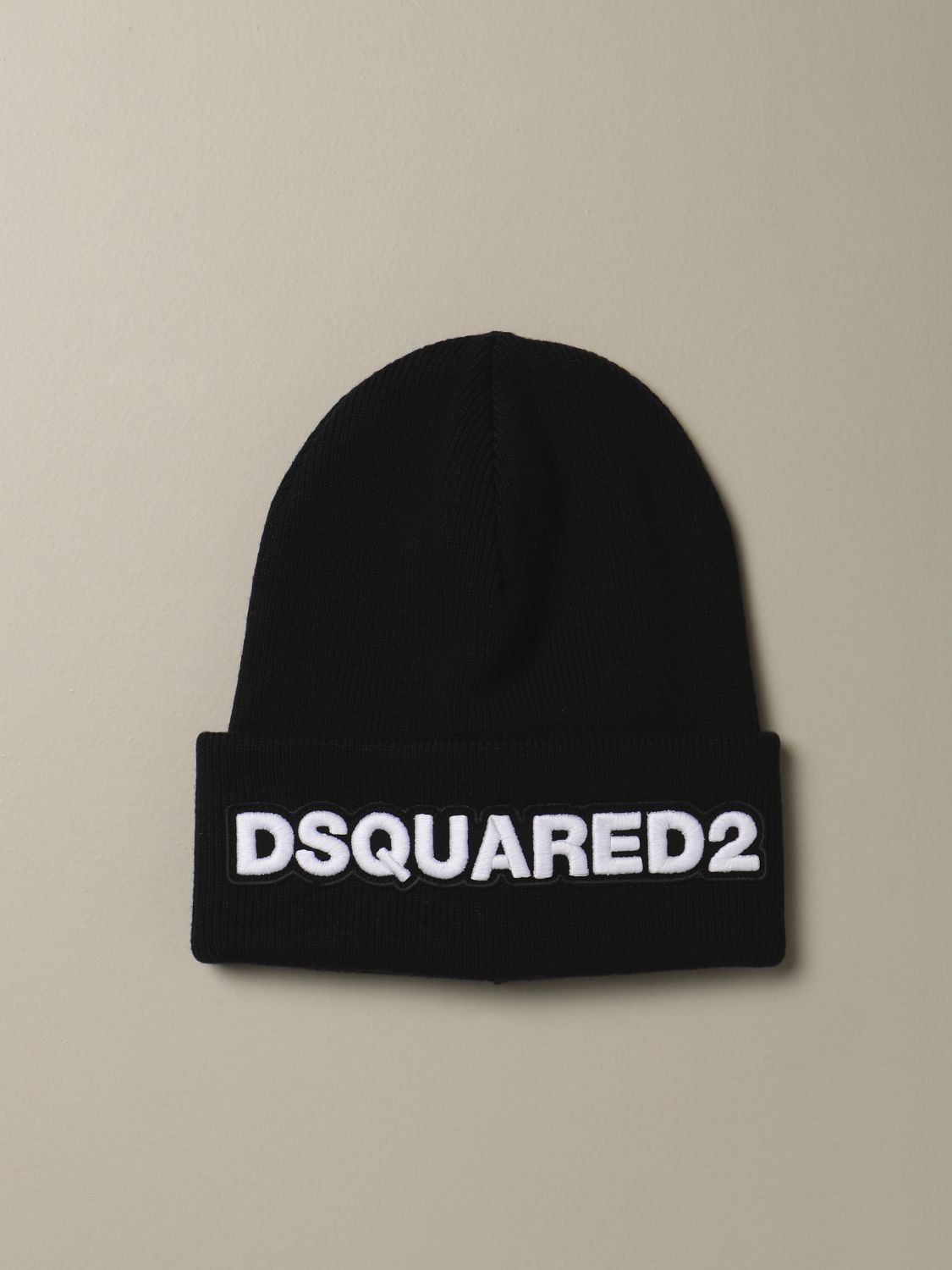 Hat Dsquared2: Dsquared2 wool hat with logo black 1