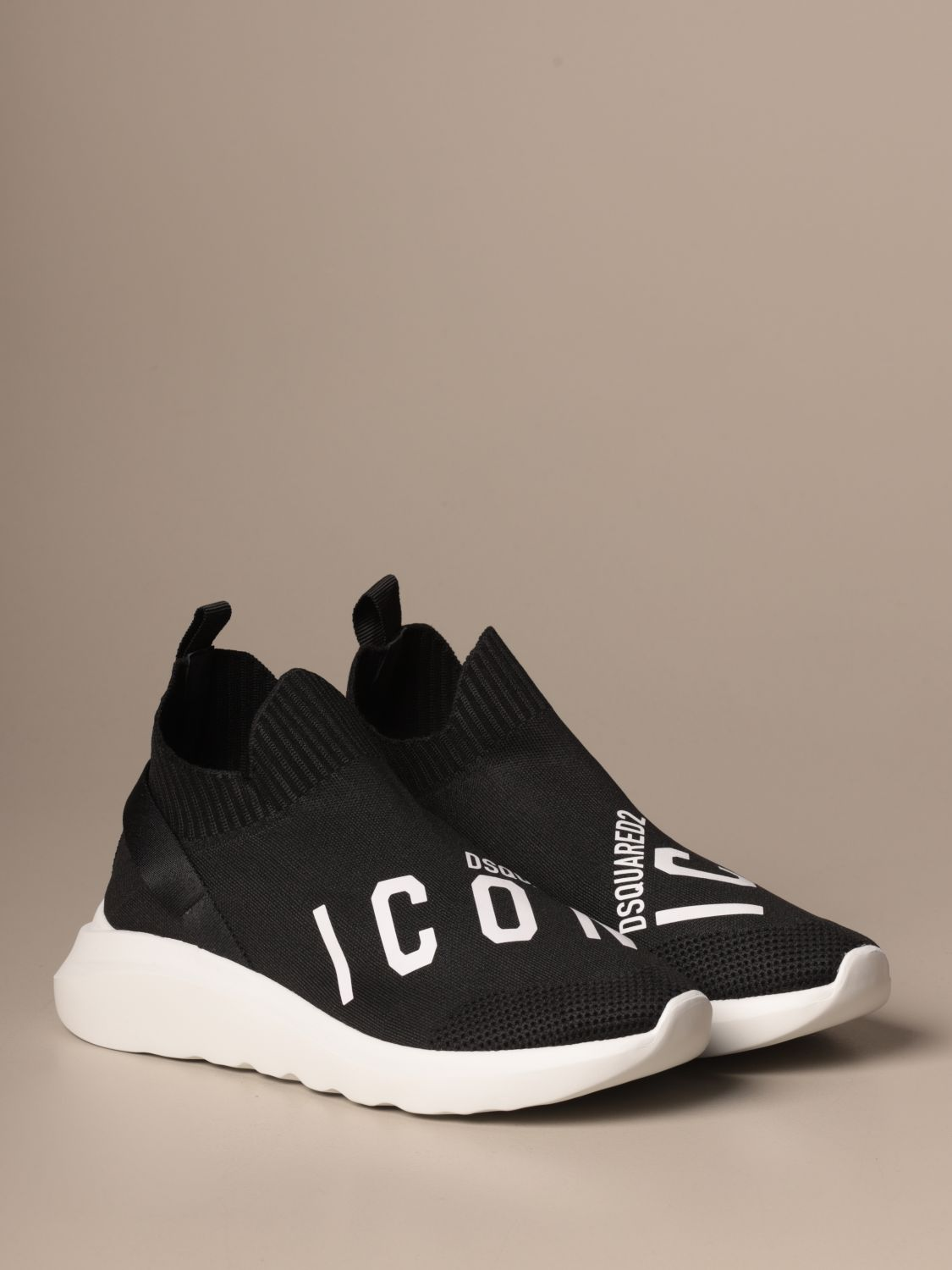 Sneakers Dsquared2: Dsquared2 sneakers in technical fabric with Icon logo black 2