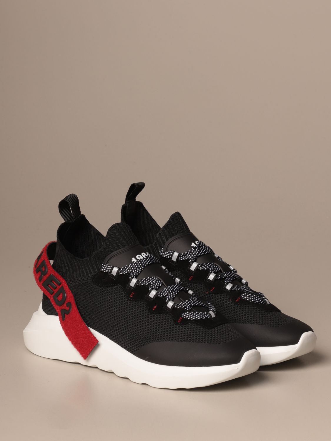 Sneakers Dsquared2: Dsquared2 sneakers in technical fabric with logo black 1 2