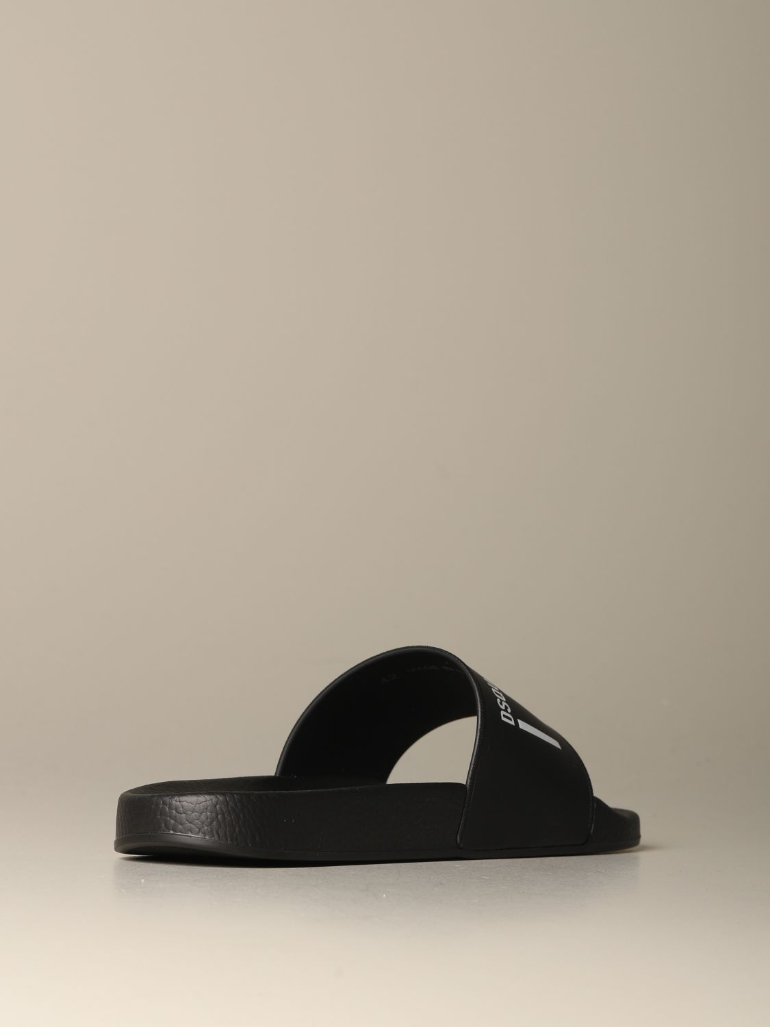 Sandals Dsquared2: Dsquared2 rubber sandal with Icon print black 3