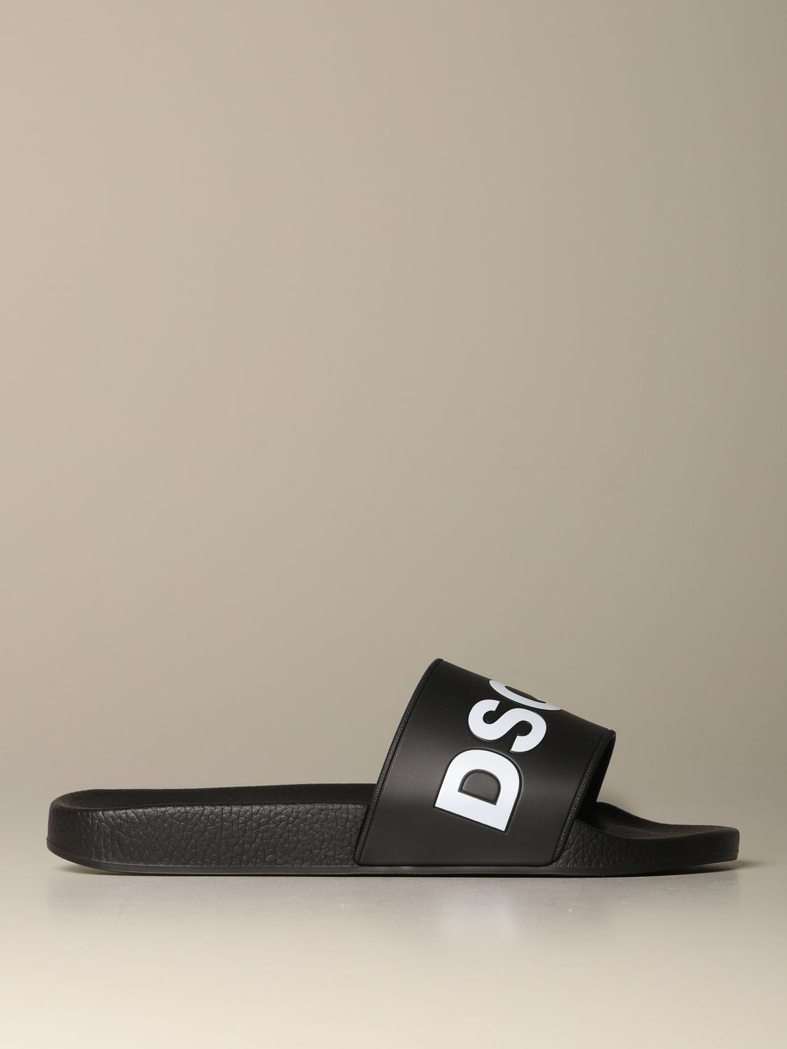 Sandals Dsquared2: Dsquared2 rubber sandal with logo print black 1