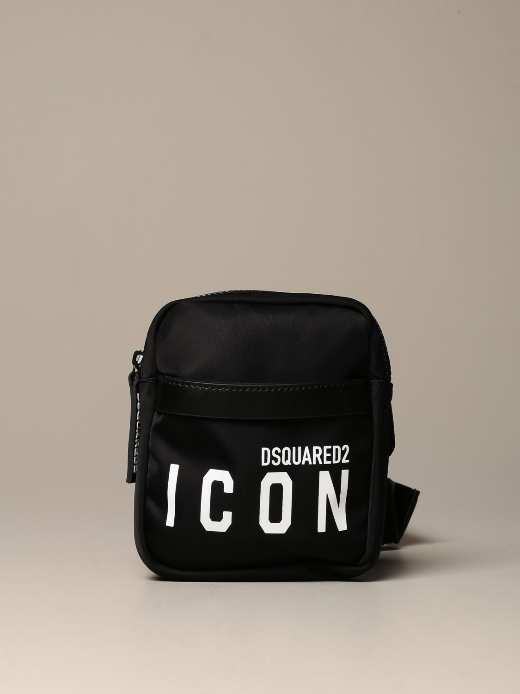 Shoulder bag Dsquared2: Dsquared2 nylon bag / pouch with Icon logo black 1