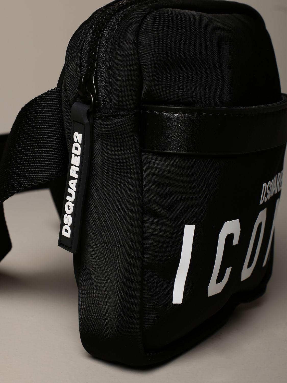Shoulder bag Dsquared2: Dsquared2 nylon bag / pouch with Icon logo black 3