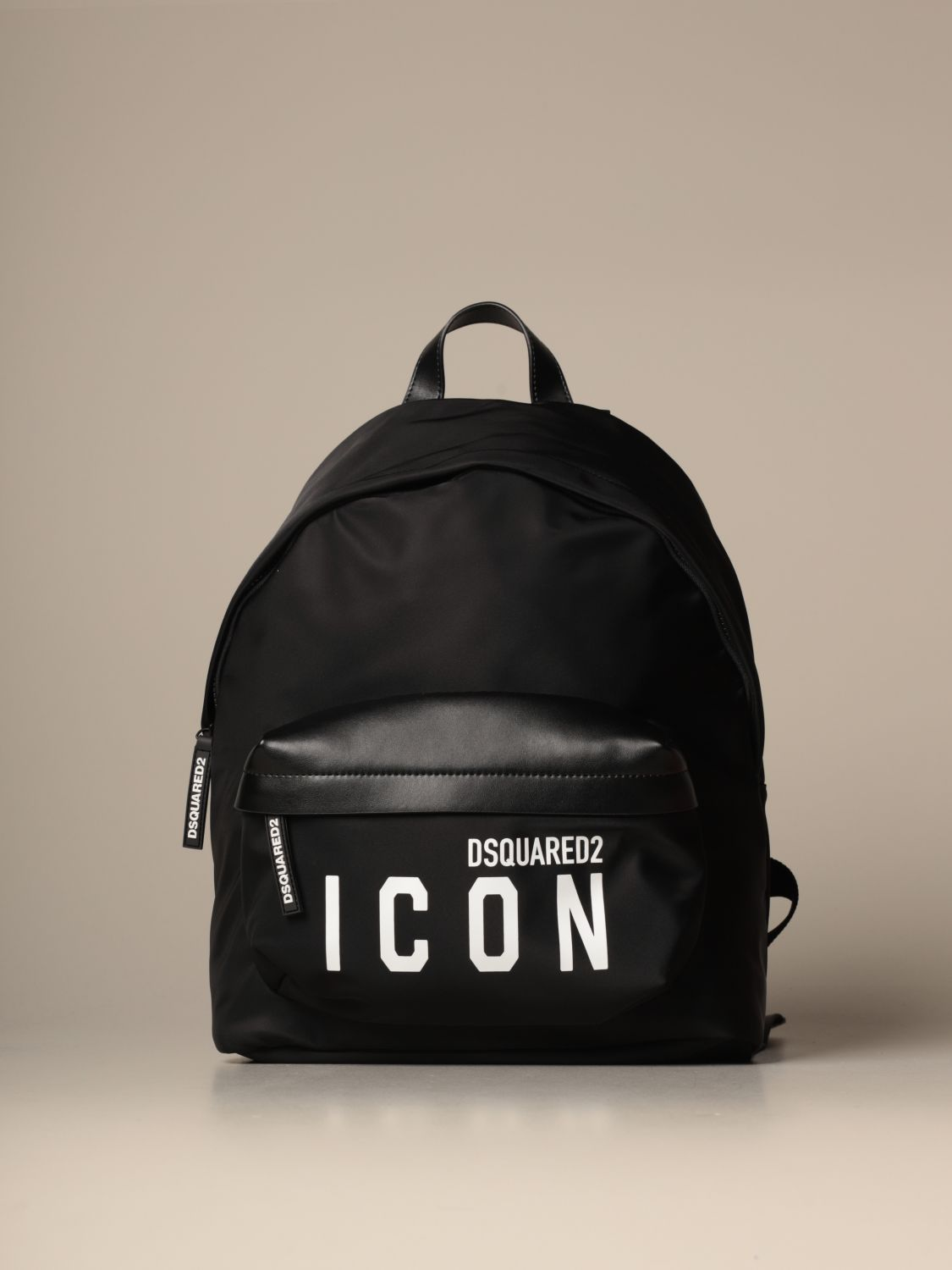 Backpack Dsquared2: Dsquared2 nylon backpack with Icon logo black 1