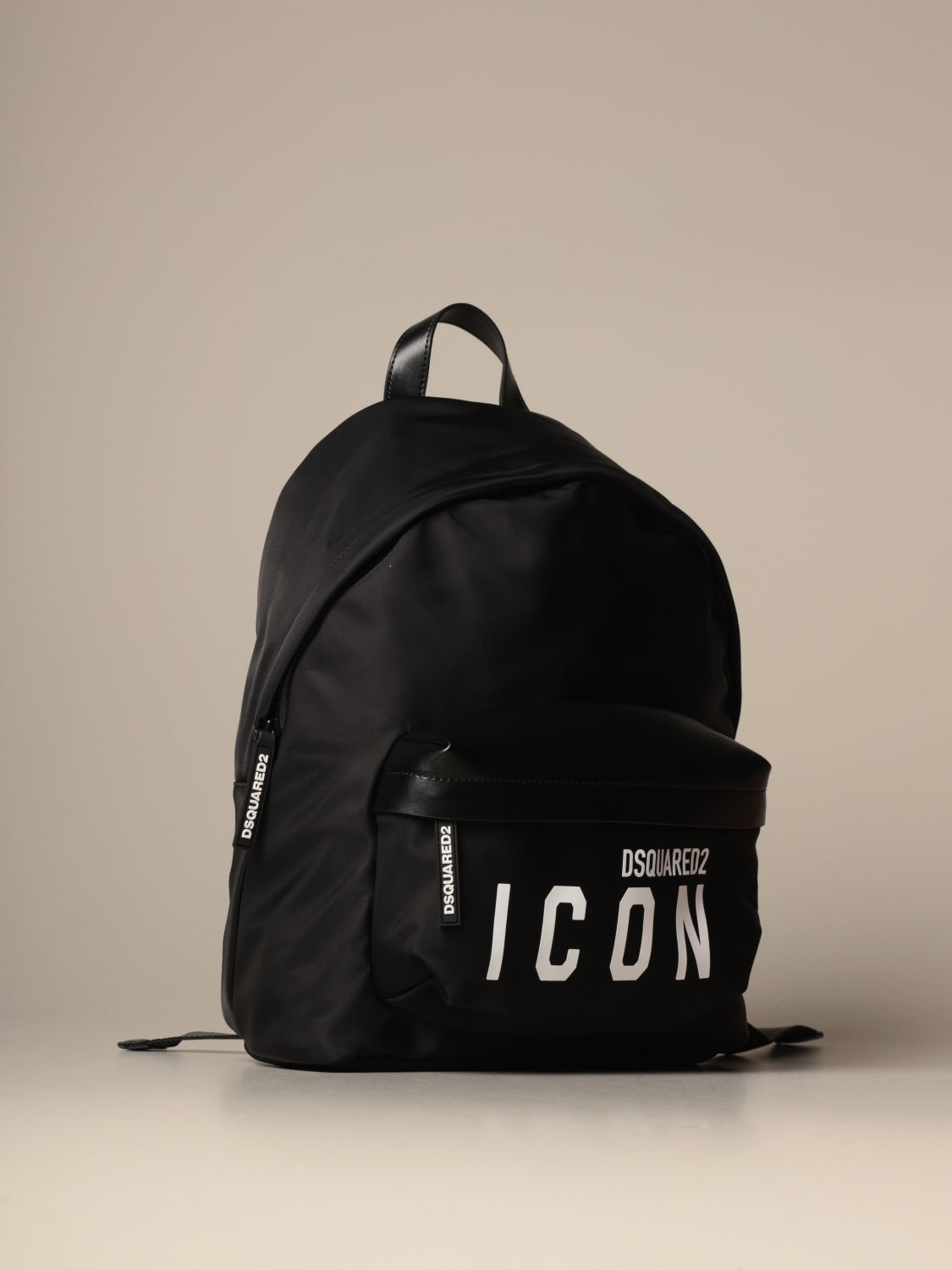 Backpack Dsquared2: Dsquared2 nylon backpack with Icon logo black 3