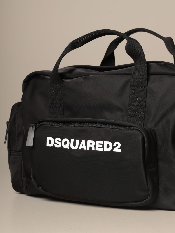 Shoulder bag Dsquared2: Dsquared2 nylon bag with logo black 3