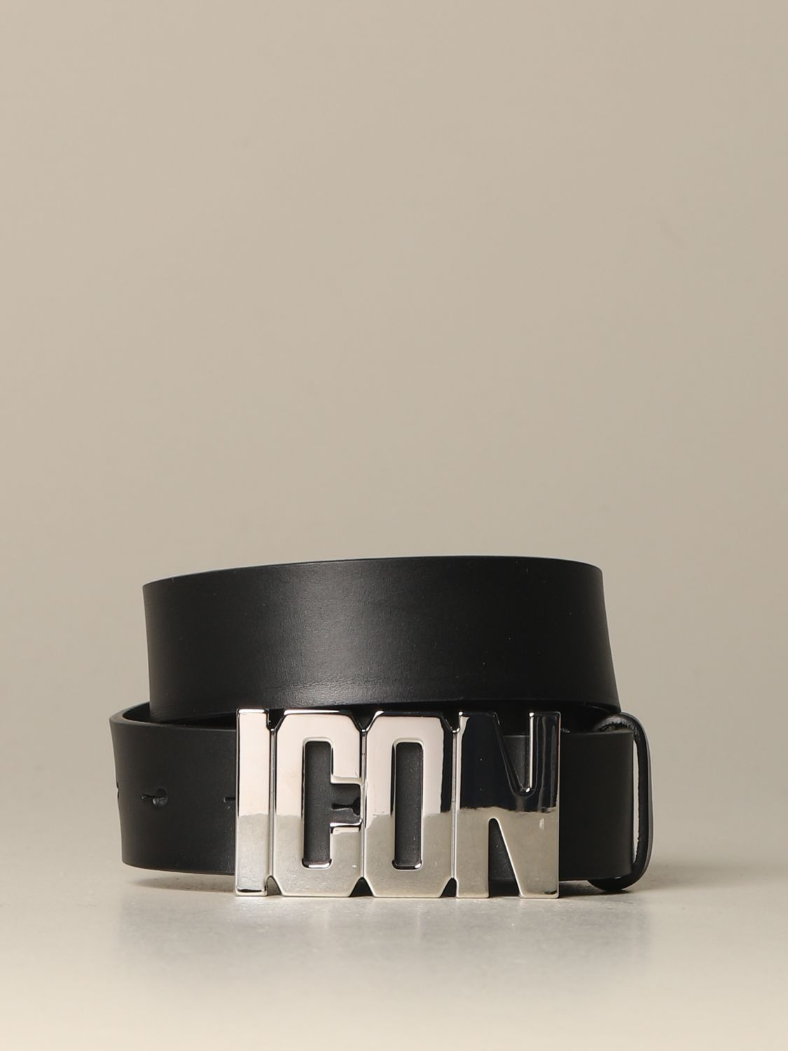 Belt Dsquared2: Dsquared2 leather belt with Icon buckle black 1