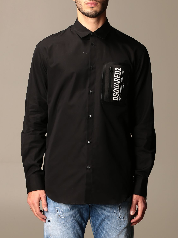 Рубашка Dsquared2: Рубашка Мужское Dsquared2 черный 1