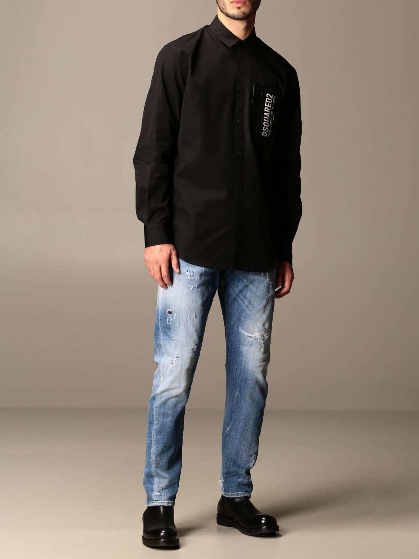 Рубашка Dsquared2: Рубашка Мужское Dsquared2 черный 2