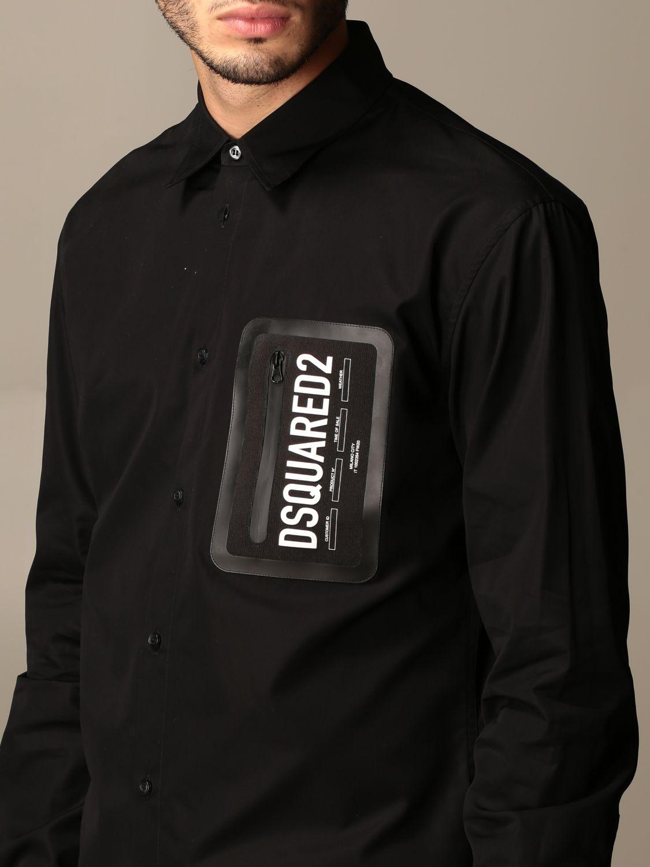 Рубашка Dsquared2: Рубашка Мужское Dsquared2 черный 4
